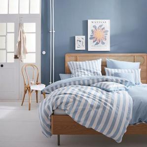andas Wendebettwäsche Greta, mit tollen Streifen B/L: 155 cm x 220 (1 St.), 80 Renforcé blau Bettwäsche nach Material Bettwäsche, Bettlaken und Betttücher