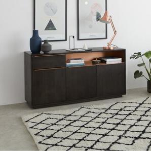 Anderson Sideboard, Mangoholz in Grau und Kupfer