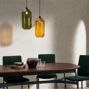 Andes hoher Lampenschirm, Glas in Bernsteingelb