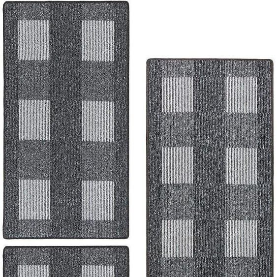 Andiamo Bettumrandung Dijon, Bettvorleger, Läufer-Set für das Schlafzimmer B/L (Brücke): 67 cm x 120 (2 St.) (Läufer): 200 (1 St.), rechteckig grau Bettumrandungen Läufer Teppiche