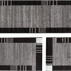 Andiamo Bettumrandung »Grasse«, 14 (2x Brücke 140x67 cm & 1x Läufer 340x67 cm), 12 mm Gesamthöhe, grau