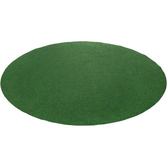 Andiamo Rasenteppich Kunstrasen Field, rund, 4 mm Höhe B/L: 195 cm x Ø cm, 1 St. grün Outdoor-Teppiche Teppiche