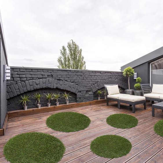 Andiamo Rasenteppich Sansibar, rechteckig, 15 mm Höhe B/L: 75 cm x cm, 1 St. grün Outdoor-Teppiche Teppiche