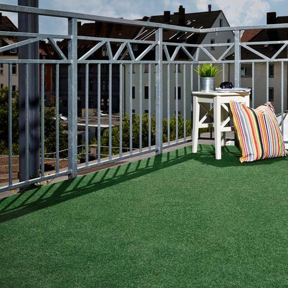 Andiamo Rasenteppich Sunny, rechteckig, 10 mm Höhe B/L: 133 cm x 400 cm, 1 St. grün Outdoor-Teppiche Teppiche