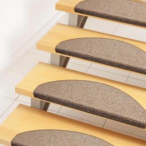 Andiamo Stufenmatte »Bob«, 2x 65x28 cm, 4,5 mm Gesamthöhe (ca.), braun
