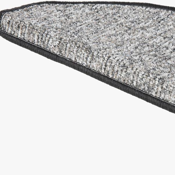 Andiamo Stufenmatte Leo, halbrund, 6 mm Höhe, grobe melierte Schlinge, 15 Stück in einem Set B/L: 28 cm x 65 cm, St. grau Stufenmatten Teppiche