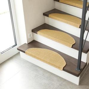 Andiamo Stufenmatte Odense, halbrund, 9 mm Höhe, 100% Sisal, erhältlich als Set mit 2 Stück oder 15 B/L: 65 cm x 28 cm, St. beige Stufenmatten Teppiche