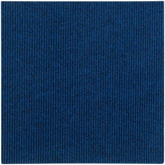 Andiamo Teppichfliese Rippe Nadelfilz, quadratisch, 4 mm Höhe, 16 Stück (4 m²), selbstklebend, robust & strapazierfähig B/L: 50 cm x cm, St. blau Teppichfliesen Bodenbeläge Bauen Renovieren