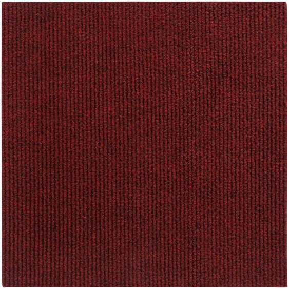 Andiamo Teppichfliese Rippe Nadelfilz, quadratisch, 4 mm Höhe, 16 Stück (4 m²), selbstklebend, robust & strapazierfähig B/L: 50 cm x cm, St. rot Teppichfliesen Bodenbeläge Bauen Renovieren