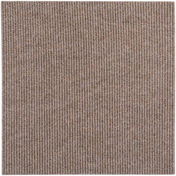 Andiamo Teppichfliese Rippe, rechteckig, 4 mm Höhe, Stück (1 m²), selbstklebend, für Stuhlrollen geeignet B/L: 50 cm x cm, St. beige Teppichfliesen Bodenbeläge Bauen Renovieren