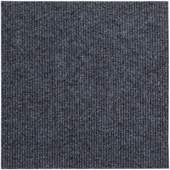 Andiamo Teppichfliese Rippe, rechteckig, 4 mm Höhe, Stück (1 m²), selbstklebend, für Stuhlrollen geeignet B/L: 50 cm x cm, St. grau Teppichfliesen Bodenbeläge Bauen Renovieren