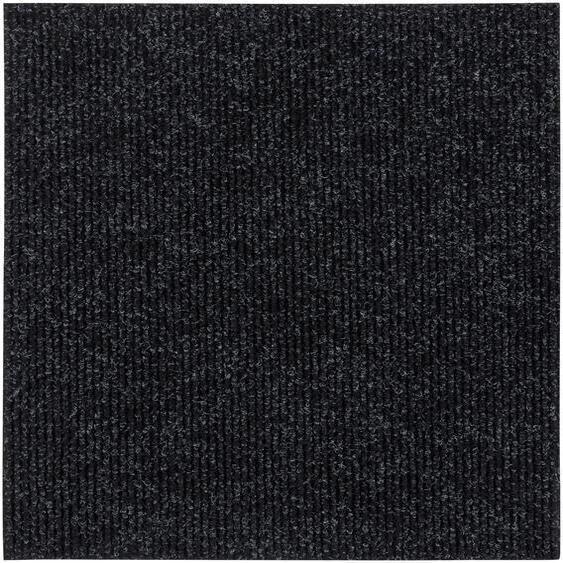 Andiamo Teppichfliese Rippe, rechteckig, 4 mm Höhe, Stück (1 m²), selbstklebend, für Stuhlrollen geeignet B/L: 50 cm x cm, St. schwarz Teppichfliesen Bodenbeläge Bauen Renovieren