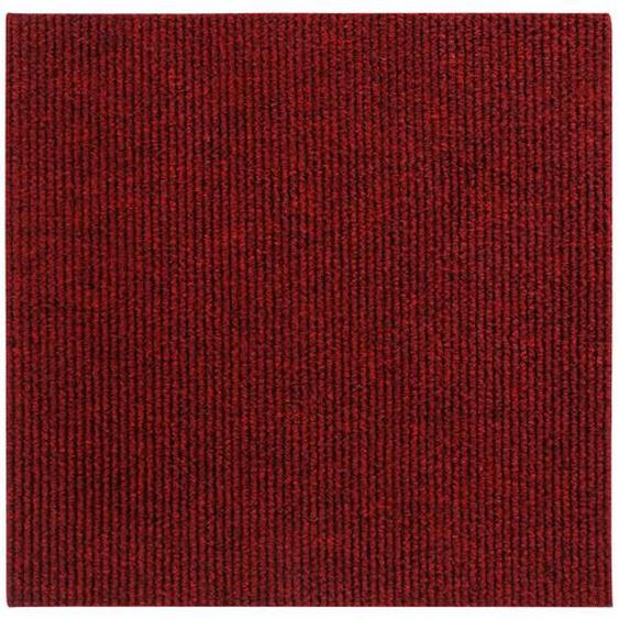 Andiamo Teppichfliese Rippe selbstklebend Rot 50 cm x 50 cm