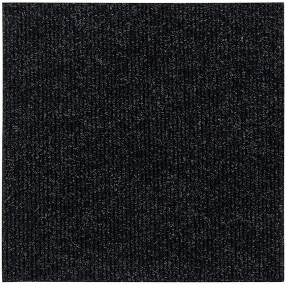 Andiamo Teppichfliese Rippe selbstklebend Schwarz 50 cm x 50 cm