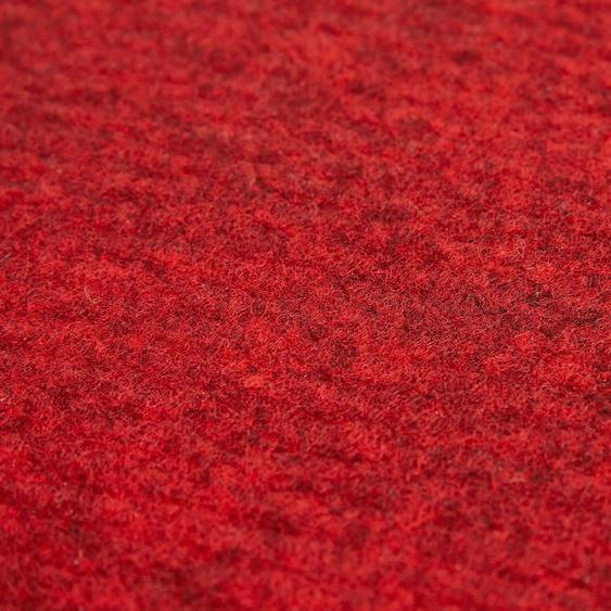 Andiamo Teppichfliese Skandi Nadelfilz, rechteckig, 4 mm Höhe, 100 Stück (16 m²), selbstklebend, für Stuhlrollen geeignet B/L: 40 cm x cm, St. rot Teppichfliesen Bodenbeläge Bauen Renovieren
