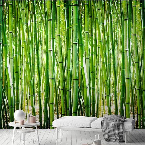 Andiamo Vliestapete »Bambus-Optik«, (1 St), 1 Rolle á 3 Bahnen 159 cm x 280 cm