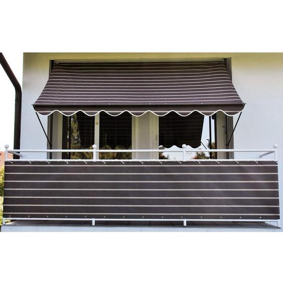 Angerer Freizeitmöbel Balkonsichtschutz Meterware, braun/weiß, H: 90 cm