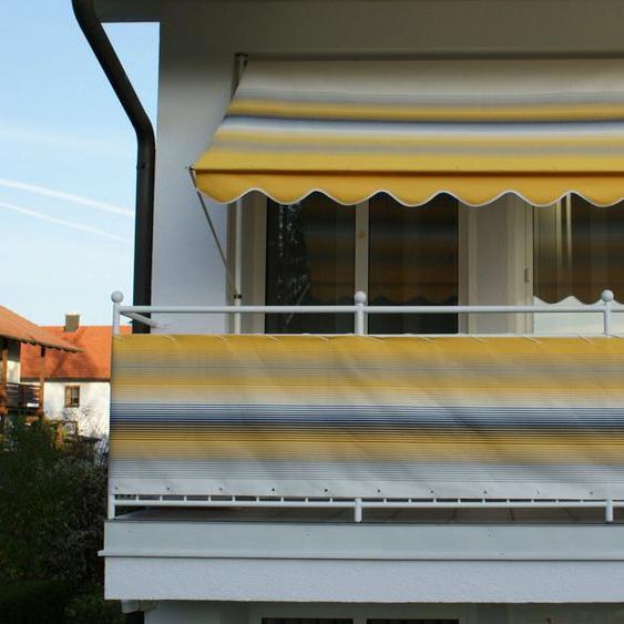 Angerer Freizeitmöbel Balkonsichtschutz Meterware, gelb/grau, H: 5 cm