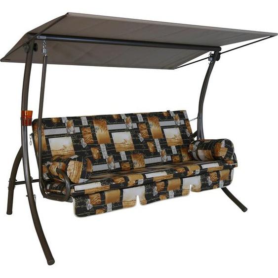Angerer Freizeitmöbel Hollywoodschaukel »Bambus«, 3-Sitzer, Bettfunktion, inkl. Auflagen und Zierkissen