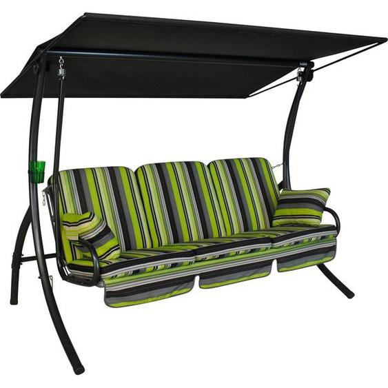 Angerer Freizeitmöbel Hollywoodschaukel »Bari«, 3-Sitzer, Bettfunktion, inkl. Auflagen und Zierkissen
