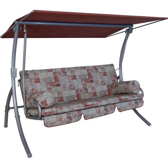 Angerer Freizeitmöbel Hollywoodschaukel »Basra«, 3-Sitzer, Bettfunktion, inkl. Auflagen und Zierkissen