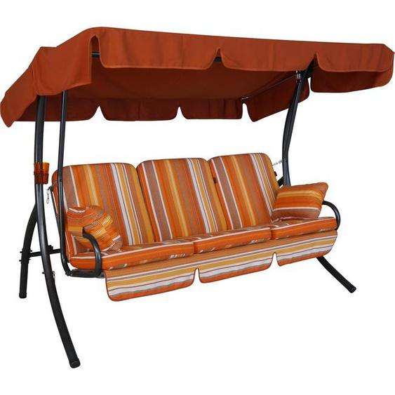 Angerer Freizeitmöbel Hollywoodschaukel »Cadiz«, 3-Sitzer, Bettfunktion, inkl. Auflagen und Zierkissen