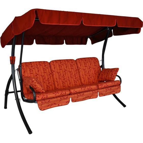 Angerer Freizeitmöbel Hollywoodschaukel »Comfort Marbella«, 3-Sitzer, Bettfunktion, inkl. Auflagen und Zierkissen