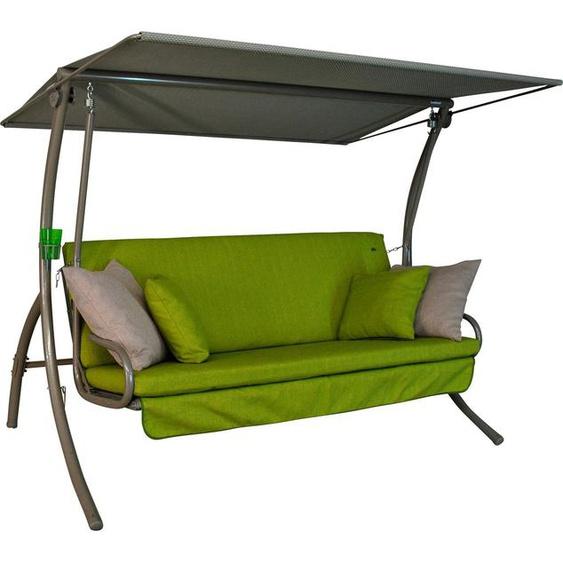 Angerer Freizeitmöbel Hollywoodschaukel »Drift Smart Lime«, 3-Sitzer, Bettfunktion, inkl. Auflagen und Zierkissen