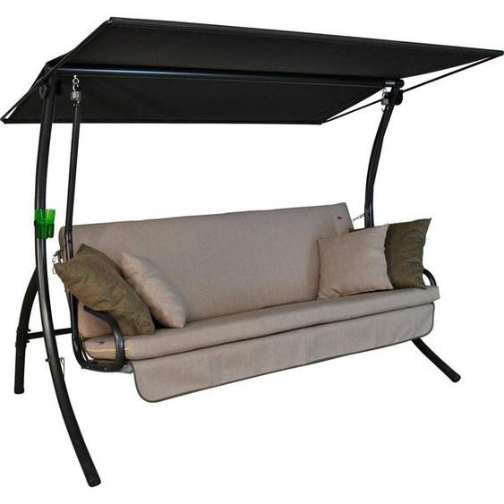 Angerer Freizeitmöbel Hollywoodschaukel »Drift Smart sand«, 3-Sitzer, Bettfunktion, inkl. Auflagen und Zierkissen