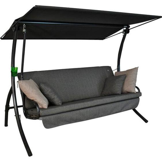 Angerer Freizeitmöbel Hollywoodschaukel »Drift Smart Stone«, 3-Sitzer, Bettfunktion, inkl. Auflagen und Zierkissen