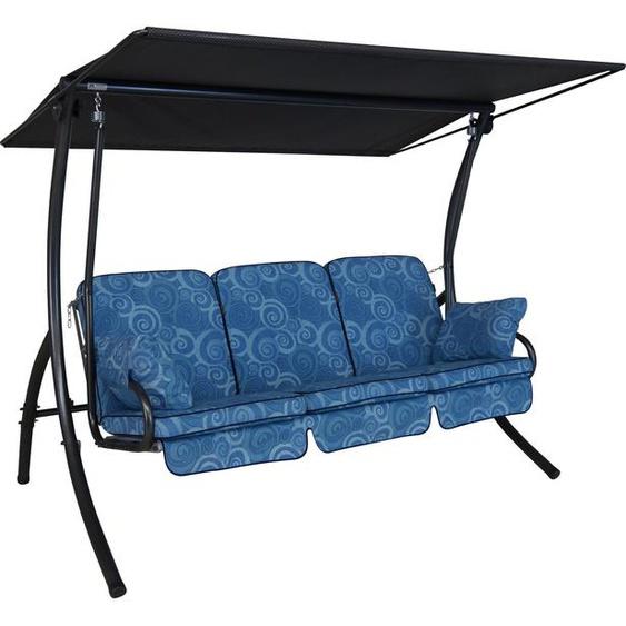 Angerer Freizeitmöbel Hollywoodschaukel »Santorin«, 3-Sitzer, inkl. Auflagen und Zierkissen