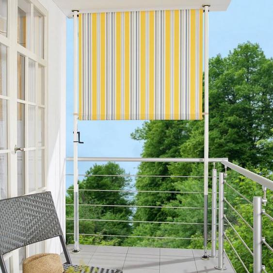 Angerer Freizeitmöbel Klemm-Senkrechtmarkise gelb/grau, BxH: 150x225 cm