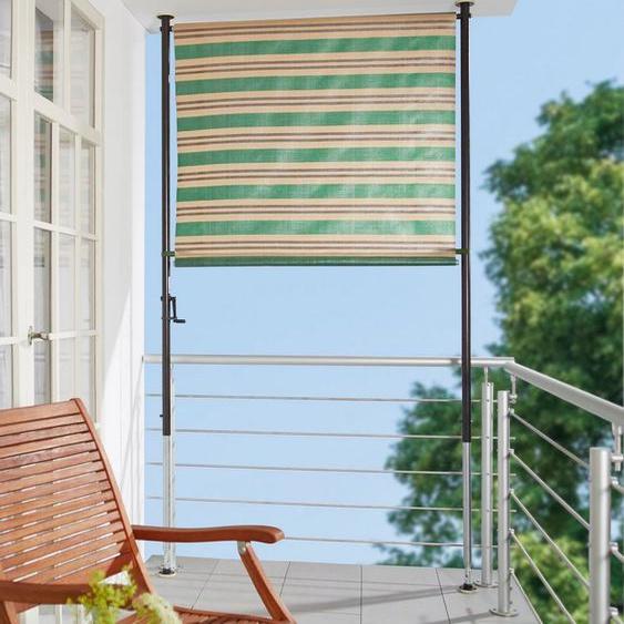 Angerer Freizeitmöbel Klemm-Senkrechtmarkise »Nr. 1900« grün/beige/braun, BxH: 150x275 cm