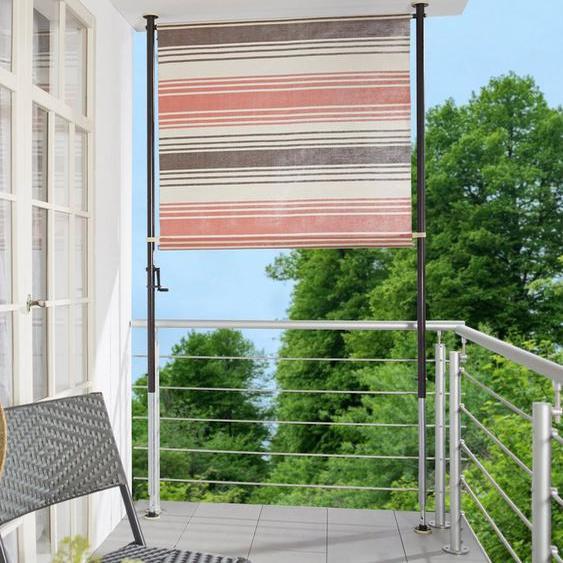 Angerer Freizeitmöbel Klemm-Senkrechtmarkise »Nr. 5100« rot/beige/braun, BxH: 150x275 cm