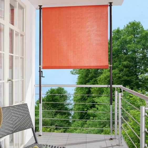 Angerer Freizeitmöbel Klemm-Senkrechtmarkise orange, BxH: 150x225 cm