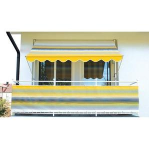 Angerer Freizeitmöbel Klemmmarkise gelb-grau, Ausfall: 150 cm, versch. Breiten
