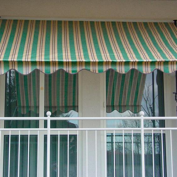 Angerer Freizeitmöbel Klemmmarkise grün/beige/braun, Ausfall: 150 cm, versch. Breiten