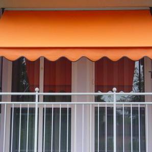 Angerer Klemmmarkise PE-Gewebe Uni, Orange, 150 cm