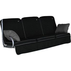 Angerer Primero Style Schaukelauflage Style, Schwarz, 3-Sitzer (ohne Schaukel)