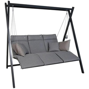 Angerer Relax Hollywoodschaukel Stahl/Textilene Eisengrau/Smart-Stone