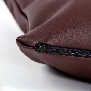 animal-design Kissenhülle, Kissenhülle 40 x 40 cm Kissenbezug Kunstleder weiß, schwarz, braun oder grau