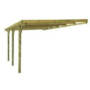 Anlehncarport DAKAR aus Holz 3 x 5 m kesseldruckimprägniert