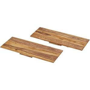 Ansteckplatten, 2er-Set  Amarillo ¦ holzfarben ¦ Maße (cm): B: 80 H: 2