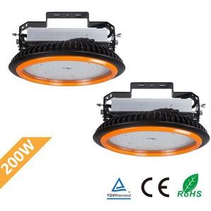 2er Anten LED High Bay Licht 26000lm 200W Kaltweiß 6000K LED Hallenleuchte/LED SMD Hallenstrahler Dank Schutzart IP65 sowohl für den Innen- als auch Aussenbereich