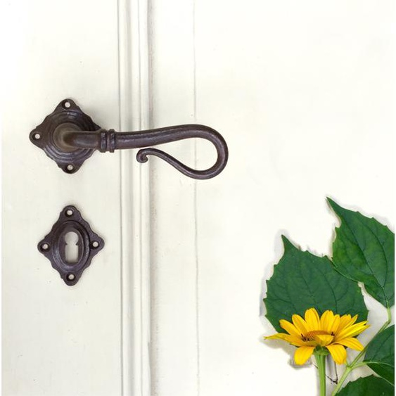 Antik-Beschlag Schmiedeeisen Tür-Garnitur für Landhaustüren - Rosettengarnitur