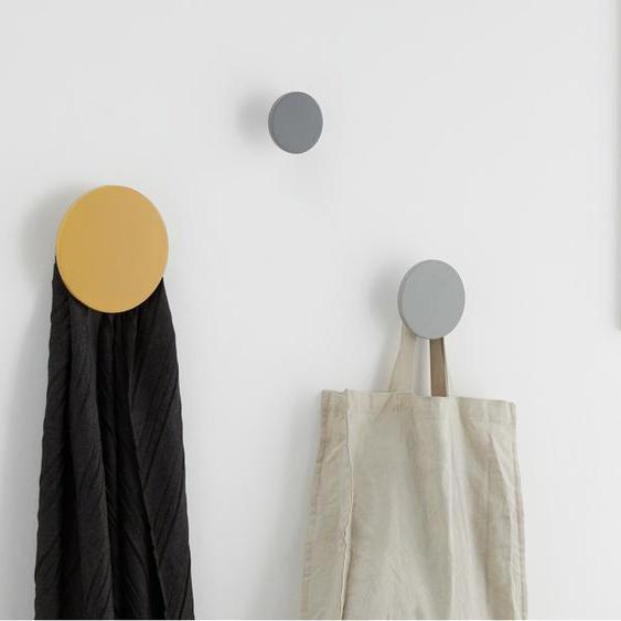 3 x Apartment Garderobenhaken, Grau und Senfgelb