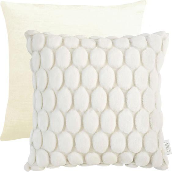APELT Kissenhülle 1100 1x 46x46 cm, Polyester weiß Kissenbezüge gemustert Kissen Kopfkissen