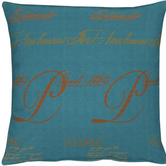 APELT Kissenhülle Ratio 1x 46x46 cm, Polyester blau Kissenbezüge gemustert Kissen Kopfkissen