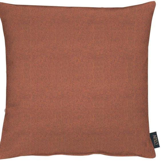 APELT Kissenhülle Vermont 2, 1x 70x70 cm, Polyester orange Kissenbezüge uni Kissen Kopfkissen