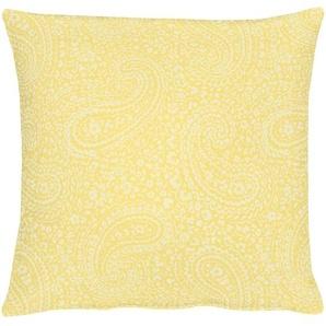 Apelt Kissenhüllen »7907 Uni Paisley«, 40x40 cm, gelb